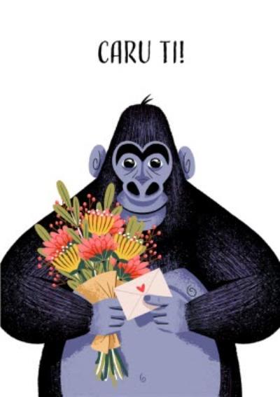 Folio Gorilla Love Welsh Valentines Day Card