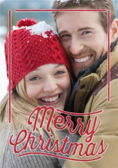Merry Christmas Overlay Personalised Photo Upload Christmas Card