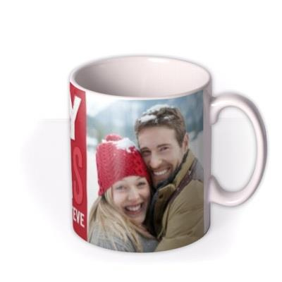 Christmas Large Text Photo Upload Mug