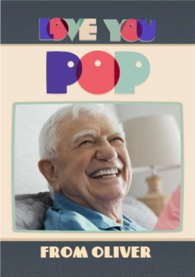 Pop Art Letters Love You Pop Photo Card