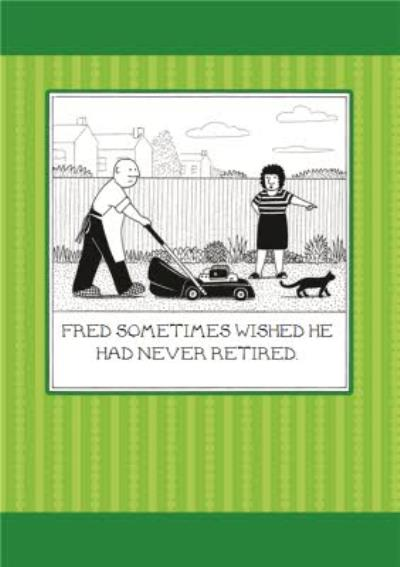 Funny Fred Retirement Card