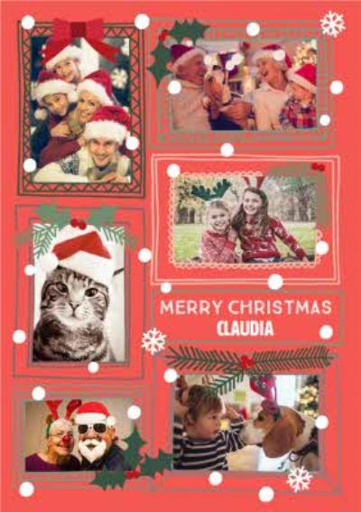 Frame Us 5-Photo Upload Christmas Card