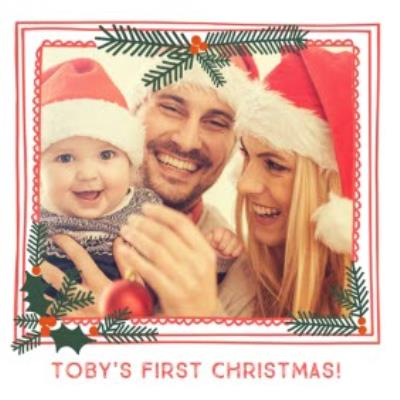 Frame Us First Christmas Photo Upload Card