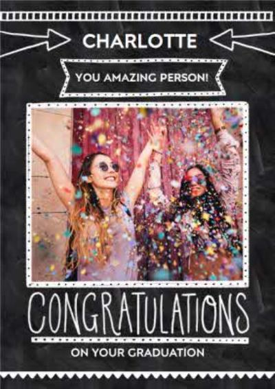 Graduation Card - Congratulations - Photo Upload