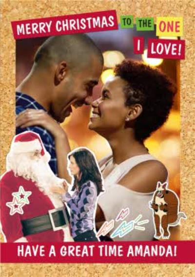 Friends TV To the One I Love Merry Christmas Photo Upload Card