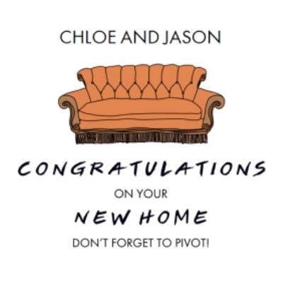 Friends TV New Home Congratulations Card