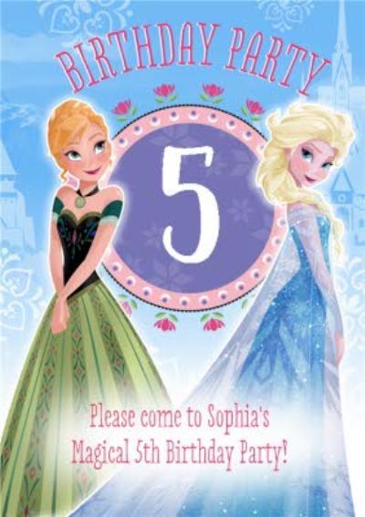 Disney Frozen 5Th Birthday Party Invitation