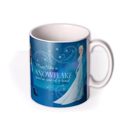 Disney Frozen Snowflake Photo Upload Mug