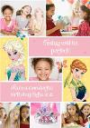Disney Frozen Anna And Elsa Personalised Multi Photo Birthday Card