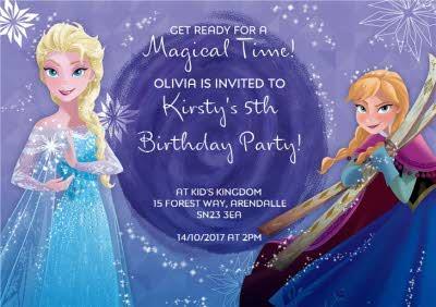 Disney Frozen Party Invitation Card