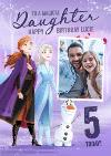 Disney Frozen 2 Magical Daughter Photo Upload 5th Birthday Card
