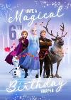 Disney Frozen 2 Elsa Anna Kristoff Sven Olaf 6th Birthday Card