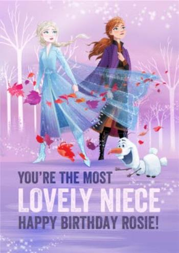 Surprising Disney Frozen 2 Lovely Niece Birthday Card Moonpig Birthday Cards Printable Benkemecafe Filternl