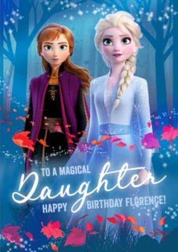 Amazing Disney Frozen 2 Anna And Elsa Magical Daughter Birthday Card Moonpig Birthday Cards Printable Benkemecafe Filternl