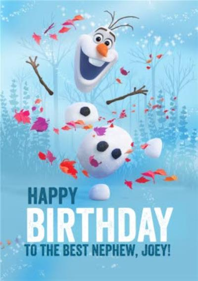 Disney Frozen 2 Olaf Best Nephew Birthday Card