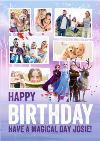 Disney Frozen 2 Characters Multi Photo Upload Birthday Card