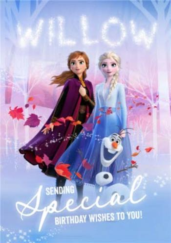 Marvelous Disney Frozen 2 Anna And Elsa Special Birthday Wishes Card Moonpig Personalised Birthday Cards Paralily Jamesorg