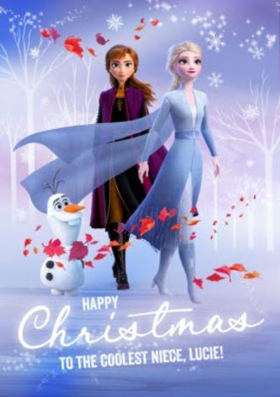 Disney Frozen 2 Coolest Niece Christmas Card