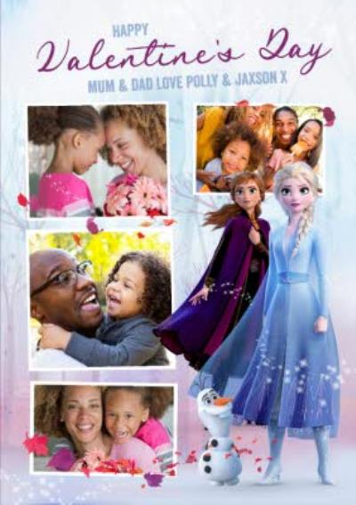 Disney Frozen 2 Valentine's Day Photo Upload Card For Mum And Dad