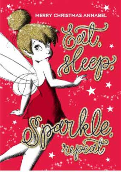 Disney Peter Pan Tinkerbell Personalised Christmas Card