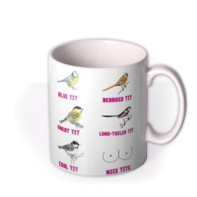 Funny Illustrations Various Birds Absolute Tit Mug