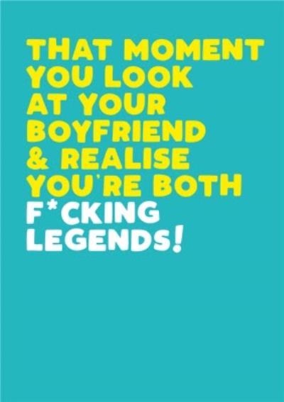 Modern Funny Naughty Fucking Legends Boyfriend Birthday Card