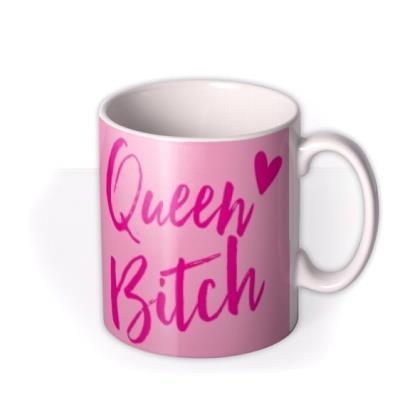 Funny Typographic Queen Mug