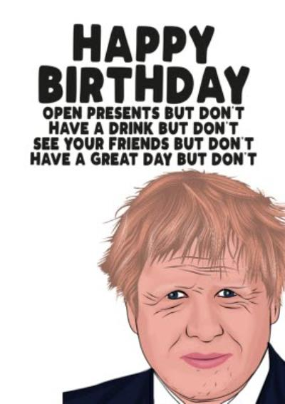 Happy Birthday Do Not Isolation Card