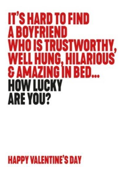 Hilarious Trustworthy and Amazing Boyfriend Happy Valentine's Card