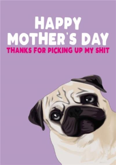 Happy Mothers Day Thanks For Picking Up My Shit Card