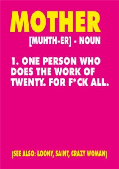 Mother Noun Card