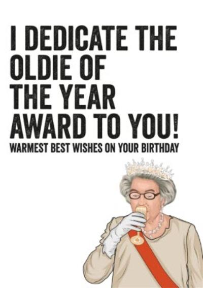 Oldie Of The Year Award Topical Funny Birthday Card