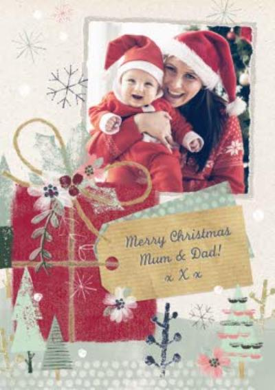 Wintertime Magic Merry Christmas Photo Card