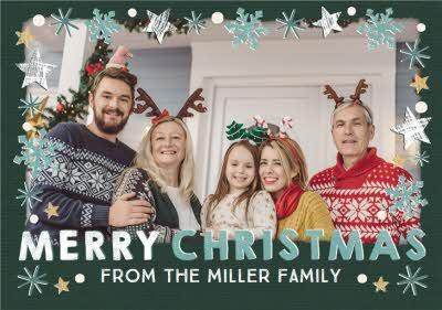Photo Upload  From the Family Merry Christmas Card