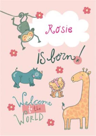 Baby Is Born Welcome To The World Card