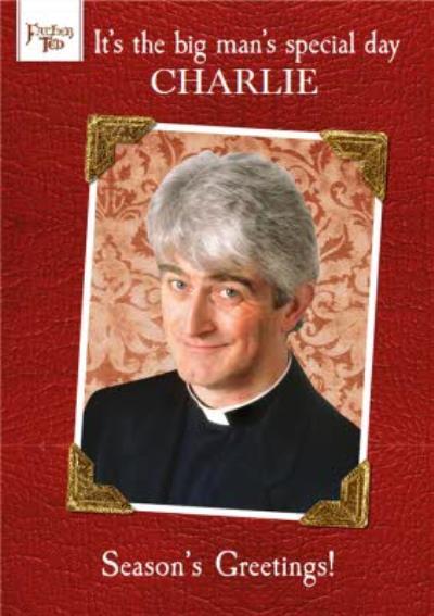 Father Ted Funny Season's Greetings Christmas Card