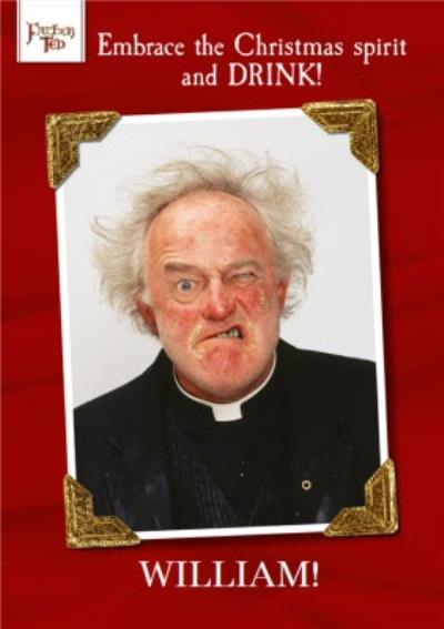 Father Ted Festive Drinking Christmas Card