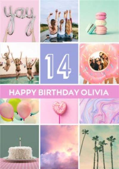Foto Feed Multi Photo Upload Personalised Age Birthday Card