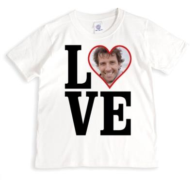 LOVE Red Heart Photo Upload T-Shirt