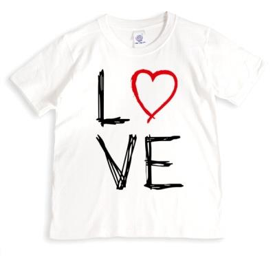 Valentine's Day LOVE Heart Sketch T-shirt