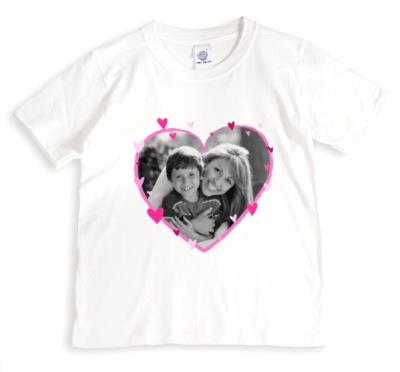 Bright Pink Hearts Photo Upload T-Shirt