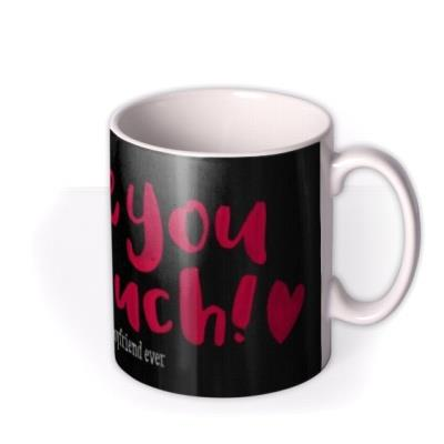 Valentine's Day Love You Pink Personalised Mug