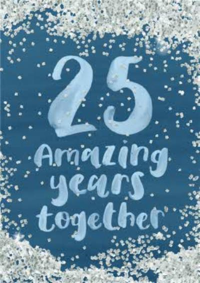 Personalised 25th Anniversary Card