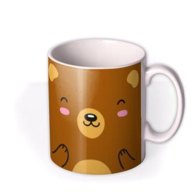 Cute Bear Graphic Illustration Birthday Mug