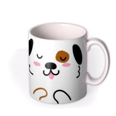 Cute Puppy Graphic Illustration Birthday Mug