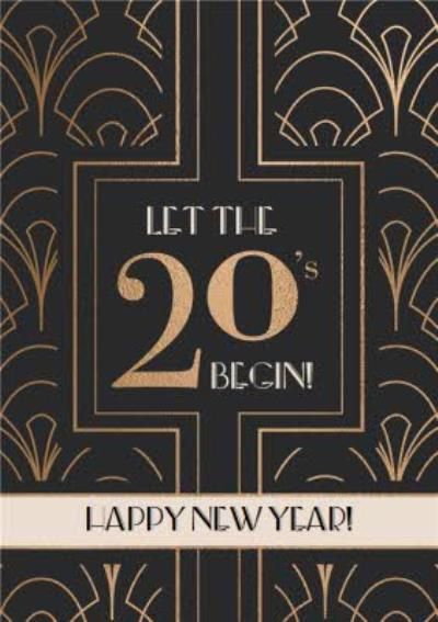 Welcome To The 20's Happy New Year Card