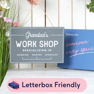 Letterbox Grandad's Workshop Wooden Sign