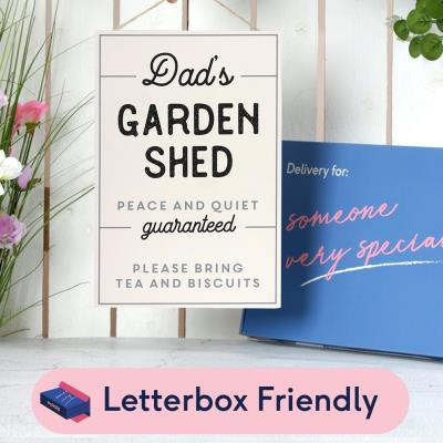 Letterbox Dad's Garden Shed Wooden Sign