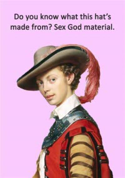 Go La La Naughty Humour Musketeer Funny General Card