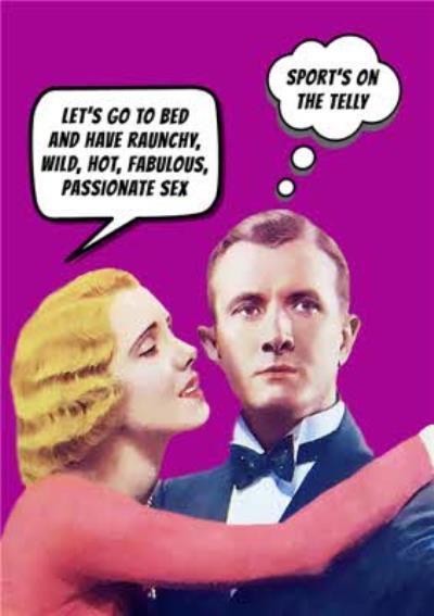 Go La La Naughty Humour Couple Funny General Card